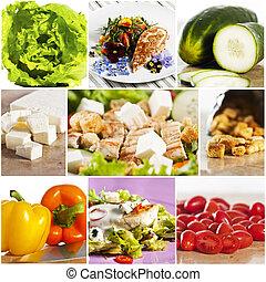 chicken salad collage - Grilled chicken salad collage