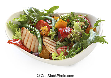 Chicken Salad - Grilled chicken in a salad with roasted...