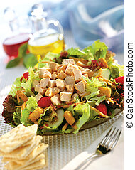 Chicken Salad - Plate of chicken salad with diced chicken