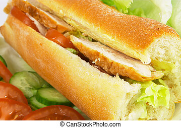 Chicken salad roll - Chicken salad french stick, with...