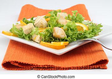 Chicken salad with oranges