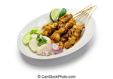 chicken satay, indonesian cuisine - chicken satay with...