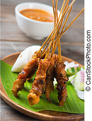 chicken satay popular asian dish