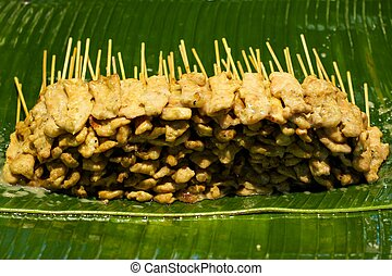 Chicken satay  - Chicken satay, one of famous Thai dishes.