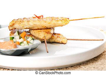 Chicken Satay Thai Skewers - Asian style chicken satay...