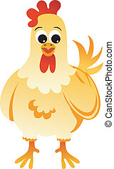 Scalable vectorial image representing a chicken, isolated on white.
