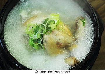 Chicken Soup Ginseng - Korean Food