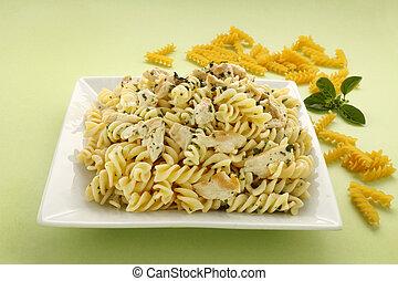 Chicken Spiral Pasta - Delicious creamy chicken with spiral...