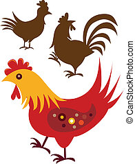 Chicken - Stock Vector Illustration: Variety of chicken