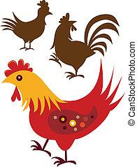 Stock Vector Illustration: Variety of chicken