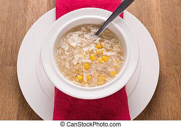 chicken sweetcorn soup