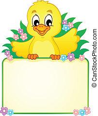 Chicken theme image 2 - vector illustration.
