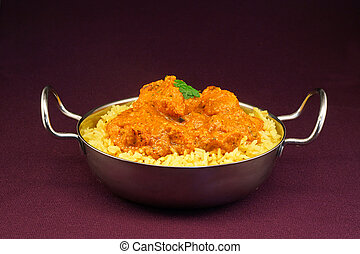 Chicken Tikka masala an indian curry popular developed in Europe as a fusion of Eastern food and modern western tastes