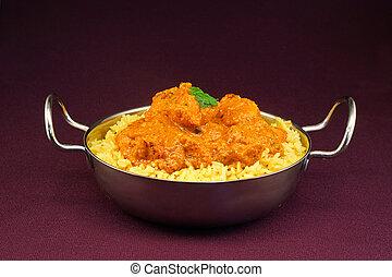 Chicken tikka masala balti dish - Chicken Tikka masala an...