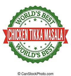 Chicken tikka masala sign or stamp
