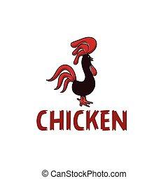 chicken vector design template