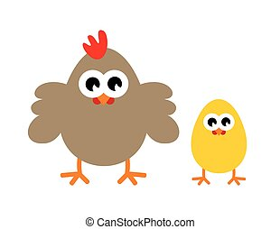 Chicken vector icon