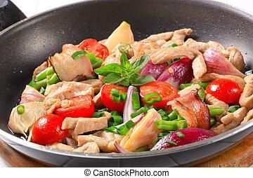 Chicken vegetable stir fry - Chicken and vegetable stir fry