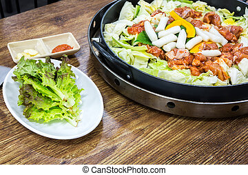 Chicken vegetable stir-fry