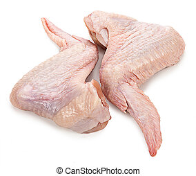 chicken wings isolated on a white background