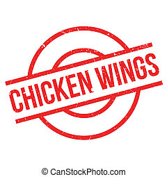 Chicken Wings rubber stamp. Grunge design with dust ...