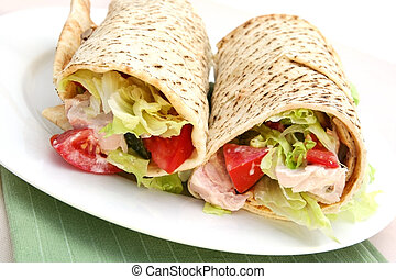 Chicken Wrap - Chicken wrap sandwich ~ organic grilled...