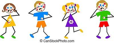 chickenpox kids - kids with the pox