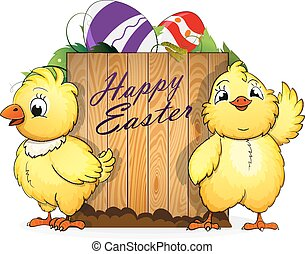 Chickens and Easter eggs