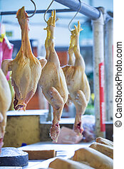 Chickens on a market