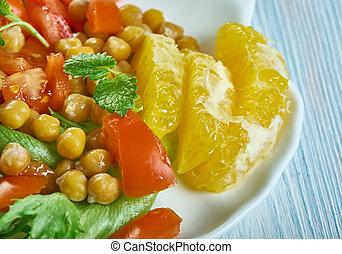 Chickpea Pancetta Salad with Cran-Orange Vinaigrette
