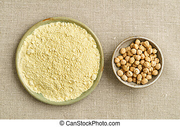 Chickpea seeds and chickpea flour