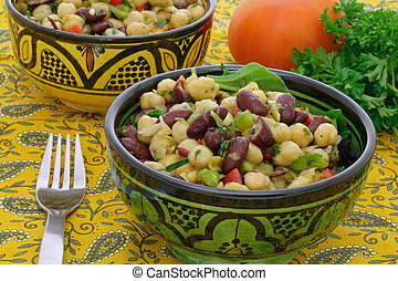 Chickpeas and bean salad - Chickpeas and red bean salad...