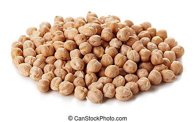 Chickpeas - Heap of chickpeas isolated on white background