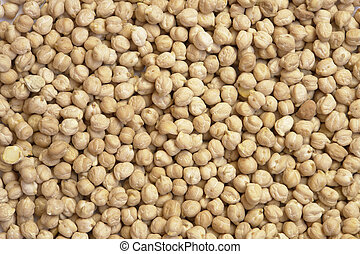 Chickpeas texture close up image