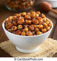 Chickpeas Roasted with Sesame and Honey - Chickpeas roasted...