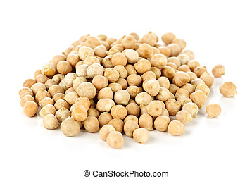 Chickpeas - Dry raw organic chickpeas isolated on white...