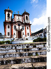 Chico Rei church in Ouro Preto - Minas Gerais - Brazil