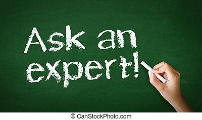 chiedere, gesso, esperto, illustrazione