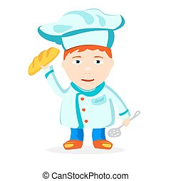 chief - Boy chef on a white background