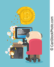 Chief businessmen are using computers heavily for drilling bitcoin. a problem causing the damage.