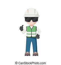 Chief civil engineer construction design. Work supervisor ...