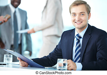 Chief executive officer - Portrait of elegant boss with...