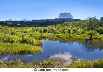 Chief mountain in Glacier national park Montana