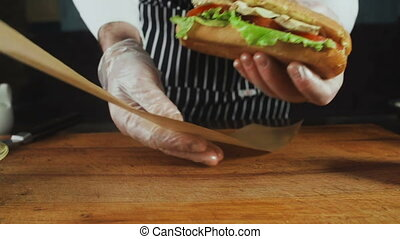 Chief Turns to the Wrapper Big Sandwich. Restaurant Business