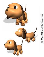 chien, 3d