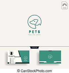 chien, business, chouchou, créatif, gabarit, logo, chat, carte, soin