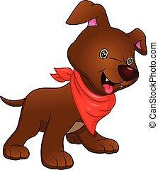 chien, dessin animé, rigolote