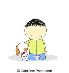 chien, gosse