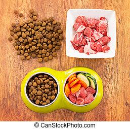 chien, sec, nourriture, naturel