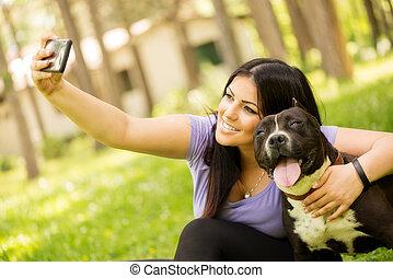 chien, selfie